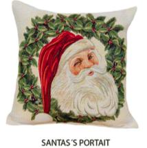 Kussenhoes Kerst Santa's Portrait
